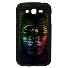 Digital Art Psychedelic Face Skull Color Samsung Galaxy Grand Duos I9082 Case (black)