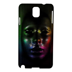 Digital Art Psychedelic Face Skull Color Samsung Galaxy Note 3 N9005 Hardshell Case