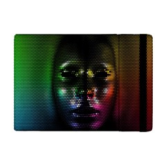 Digital Art Psychedelic Face Skull Color Ipad Mini 2 Flip Cases