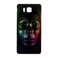 Digital Art Psychedelic Face Skull Color Samsung Galaxy Alpha Hardshell Back Case