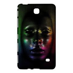 Digital Art Psychedelic Face Skull Color Samsung Galaxy Tab 4 (7 ) Hardshell Case