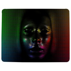 Digital Art Psychedelic Face Skull Color Jigsaw Puzzle Photo Stand (rectangular)