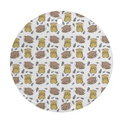 Cute Hamster Pattern Ornament (round)