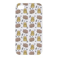 Cute Hamster Pattern Apple Iphone 4/4s Hardshell Case