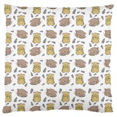 Cute Hamster Pattern Large Cushion Case (two Sides)