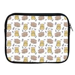 Cute Hamster Pattern Apple Ipad 2/3/4 Zipper Cases