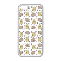 Cute Hamster Pattern Apple Iphone 5c Seamless Case (white)