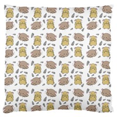 Cute Hamster Pattern Large Flano Cushion Case (two Sides)