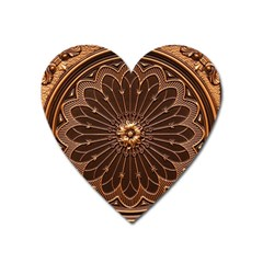 Decorative Antique Gold Heart Magnet