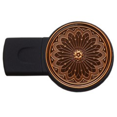 Decorative Antique Gold Usb Flash Drive Round (4 Gb)