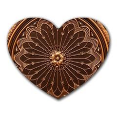 Decorative Antique Gold Heart Mousepads