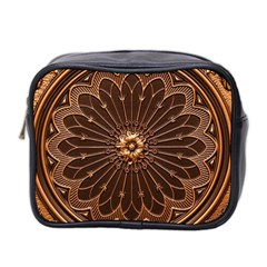 Decorative Antique Gold Mini Toiletries Bag 2 Side