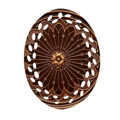 Decorative Antique Gold Oval Filigree Ornament (two Sides)