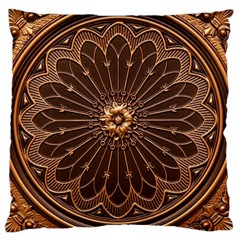 Decorative Antique Gold Large Cushion Case (two Sides)