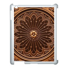 Decorative Antique Gold Apple Ipad 3/4 Case (white)