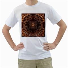 Decorative Antique Gold Men s T Shirt (white)