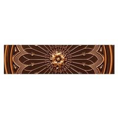 Decorative Antique Gold Satin Scarf (oblong)