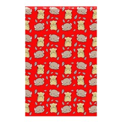 Cute Hamster Pattern Red Background Shower Curtain 48  X 72  (small)