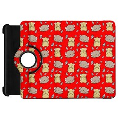 Cute Hamster Pattern Red Background Kindle Fire Hd 7