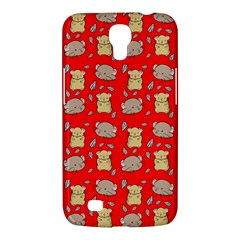 Cute Hamster Pattern Red Background Samsung Galaxy Mega 6 3  I9200 Hardshell Case