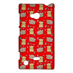 Cute Hamster Pattern Red Background Nokia Lumia 720