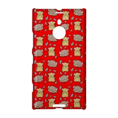 Cute Hamster Pattern Red Background Nokia Lumia 1520