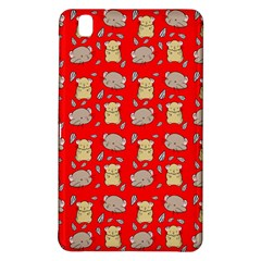 Cute Hamster Pattern Red Background Samsung Galaxy Tab Pro 8 4 Hardshell Case