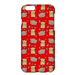 Cute Hamster Pattern Red Background Apple Iphone 6 Plus/6s Plus Hardshell Case