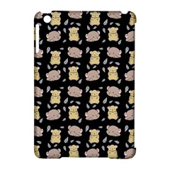 Cute Hamster Pattern Black Background Apple Ipad Mini Hardshell Case (compatible With Smart Cover)