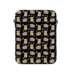 Cute Hamster Pattern Black Background Apple Ipad 2/3/4 Protective Soft Cases
