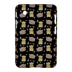 Cute Hamster Pattern Black Background Samsung Galaxy Tab 2 (7 ) P3100 Hardshell Case