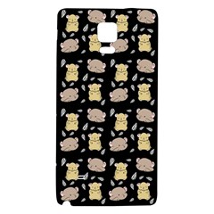 Cute Hamster Pattern Black Background Galaxy Note 4 Back Case