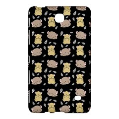 Cute Hamster Pattern Black Background Samsung Galaxy Tab 4 (7 ) Hardshell Case