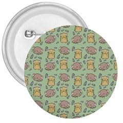Cute Hamster Pattern 3  Buttons