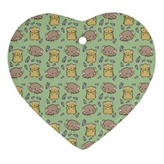 Cute Hamster Pattern Ornament (heart)