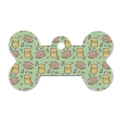 Cute Hamster Pattern Dog Tag Bone (one Side)