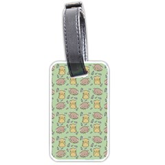 Cute Hamster Pattern Luggage Tags (two Sides)