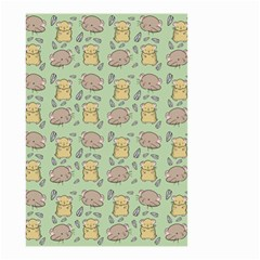 Cute Hamster Pattern Small Garden Flag (two Sides)