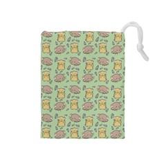 Cute Hamster Pattern Drawstring Pouches (medium)