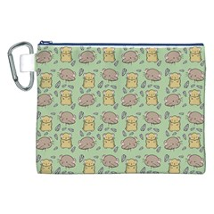 Cute Hamster Pattern Canvas Cosmetic Bag (xxl)