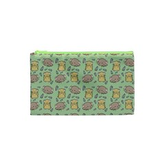 Cute Hamster Pattern Cosmetic Bag (xs)
