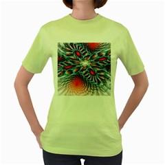 Creative Abstract Women s Green T Shirt