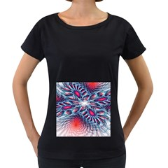 Creative Abstract Women s Loose Fit T Shirt (black)