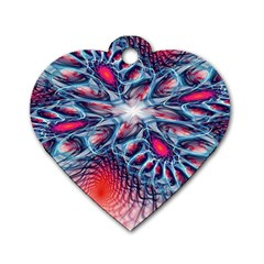 Creative Abstract Dog Tag Heart (one Side)