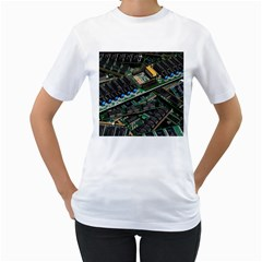 Computer Ram Tech Women s T Shirt (white) (two Sided)