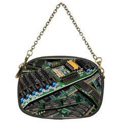 Computer Ram Tech Chain Purses (two Sides)