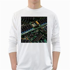 Computer Ram Tech White Long Sleeve T Shirts