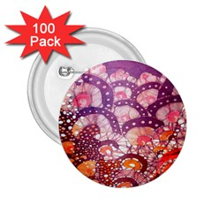Colorful Art Traditional Batik Pattern 2 25  Buttons (100 Pack)