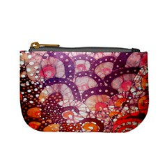 Colorful Art Traditional Batik Pattern Mini Coin Purses