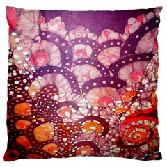 Colorful Art Traditional Batik Pattern Large Cushion Case (two Sides)